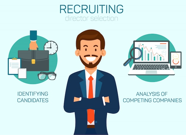 Hr company selecting director illustration