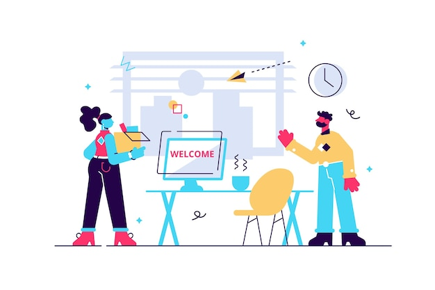 Hr employee onboarding with introduction and integration