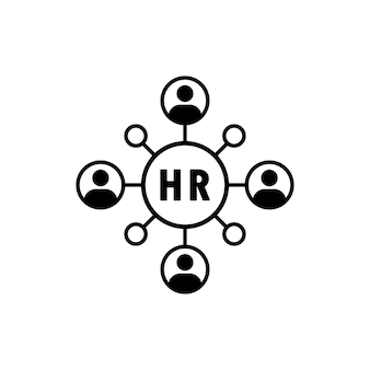 Hr, personnel, management icon. personnel change icon. people in round cycle symbol. human resource concept. vector eps 10. isolated on white background