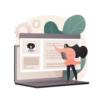 Hr software abstract illustration in flat style