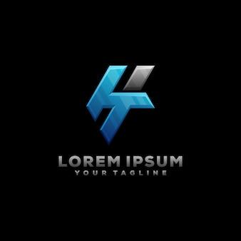 Ht letter monogram logo illustration