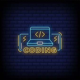 Html coding neon signs style text