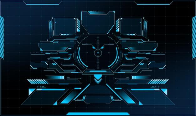 Hud analysis radar screen. technical. futuristic user interface. hi-tech futuristic display. vector