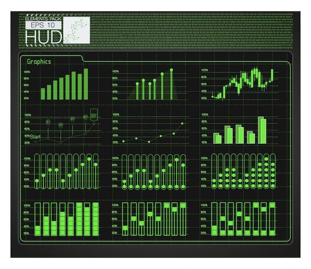 Футуристический интерфейс пользователя. hud background space. инфографические элементы.