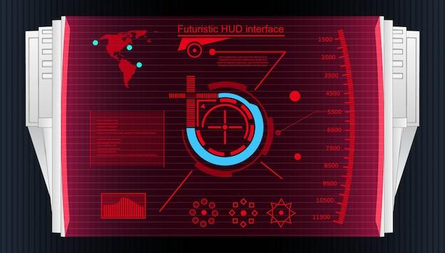 Футуристический сенсорный интерфейс пользователя hud background.