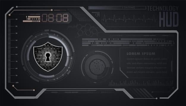 Hud、デジタル、サイバーセキュリティに関するクローズドパドロック