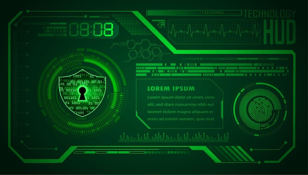 Hud cyber circuit future technology concept background