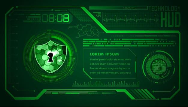 Hud кибер схема будущей технологии концепции фон