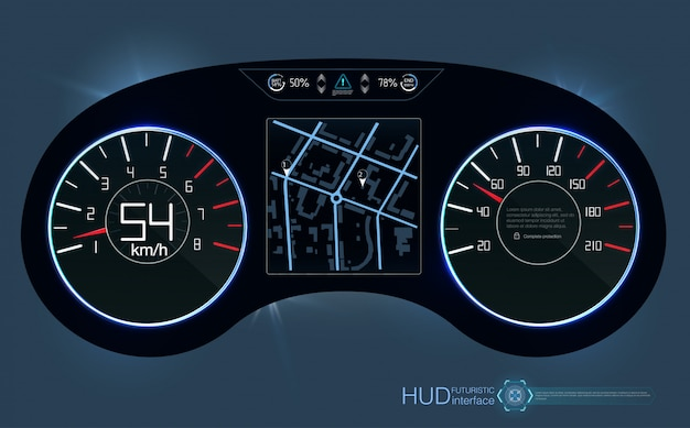 Hud dashboard. abstract virtual graphic touch user interface.  futuristic user interface hud and infographic elements.