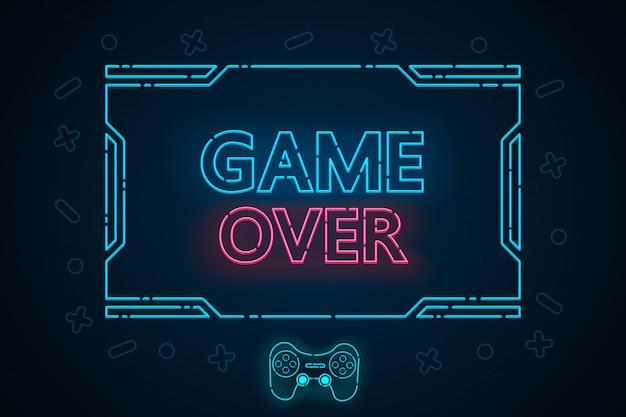 Игра закончена абстрактным технологическим интерфейсом hud design для спортивного бизнеса.