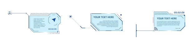 Hud futuristic style callout titles on white background infographic call arrow box bars and modern