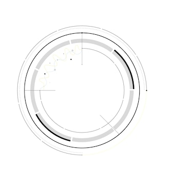 Hud futuristic template. light digital of technology design