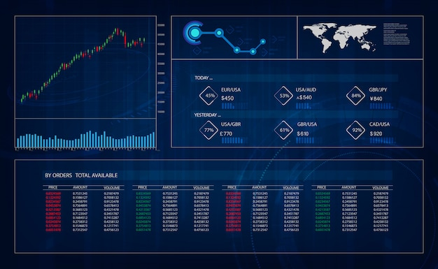 Hud gui interface, trading, great design for any purposes