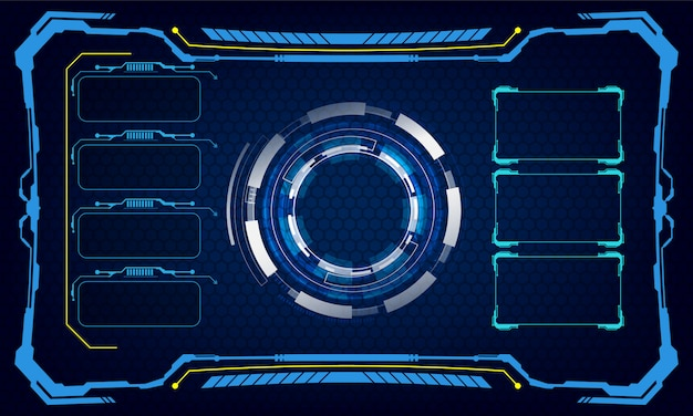 Hud interface ui template cyber innovative concept background