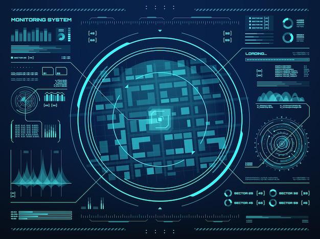 Hudセキュリティ監視システムベクトルの背景