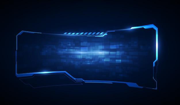 Элементы экрана футуристического пользовательского интерфейса hud, ui, gui. высокотехнологичный экран для видеоигр. научно-фантастический концептуальный дизайн.