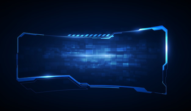 Hud、ui、guiの未来的なユーザーインターフェイス画面要素。ビデオゲーム用のハイテク画面。サイエンスフィクションのコンセプトデザイン。