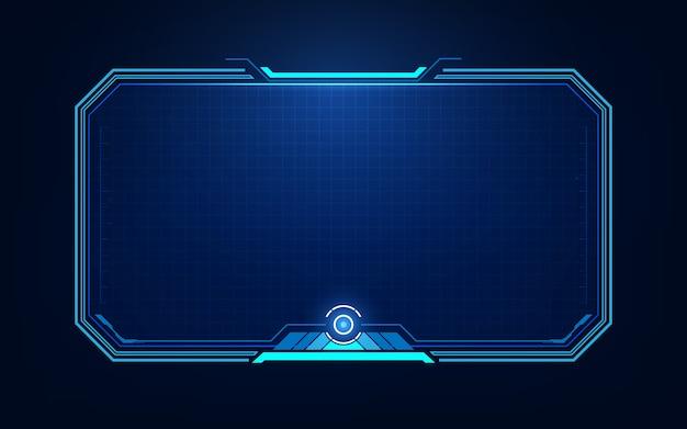 Hud, ui, элементы экрана футуристического пользовательского интерфейса gui. высокотехнологичный экран