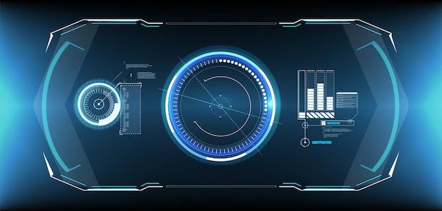 Набор элементов экрана футуристического пользовательского интерфейса hud ui gui.