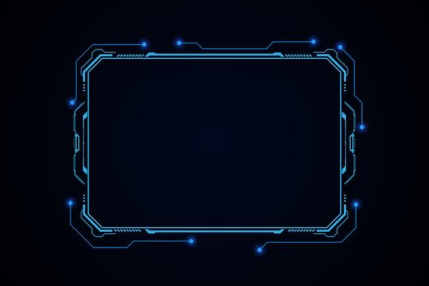 Абстрактная будущая футуристическая экранная система hud ui gui virtual