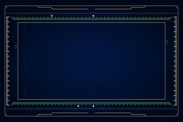 Абстрактный hud ui gui будущего футуристический экран системы виртуального дизайна