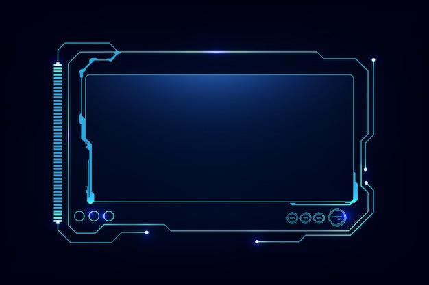 抽象hud ui gui未来未来的なスクリーンシステム仮想設計