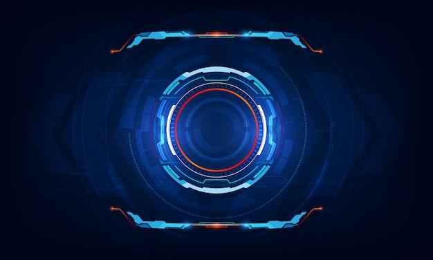 抽象的なhud ui仮想sci fiインターフェイスの背景
