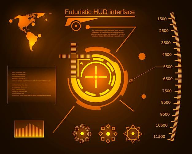 未来的な技術インターフェースhud ui。
