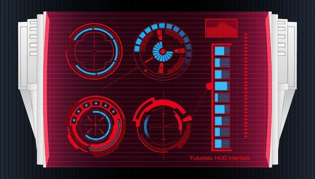 未来的な技術インターフェイスhud uiの背景。