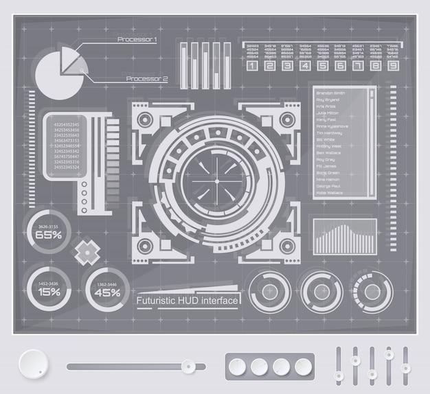 Футуристический интерфейс технологии hud ui фон.