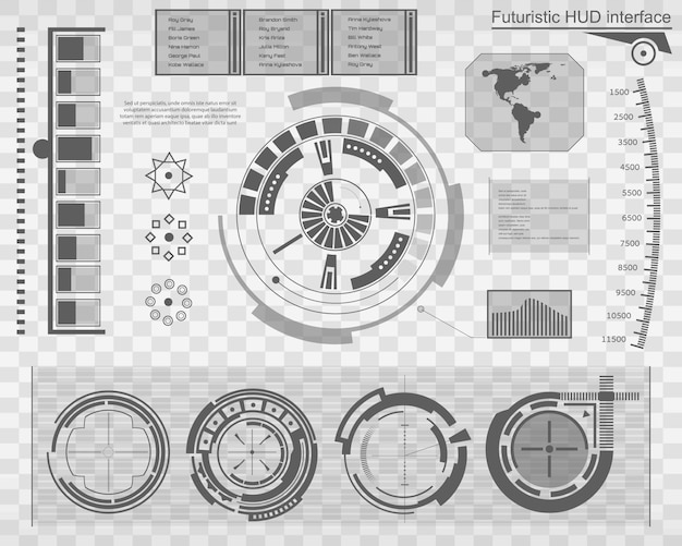 Футуристический интерфейс технологии hud ui