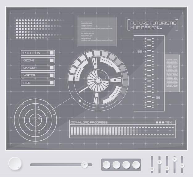 Футуристический интерфейс технологии hud ui.