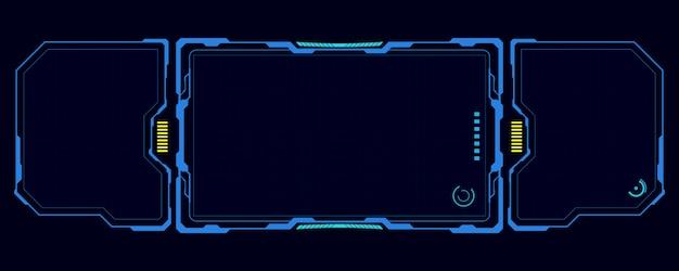 Hud интерфейс ui шаблон кибер инновационная концепция фон