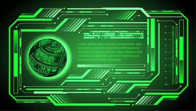 Hud world green cyber circuit future technology concept background