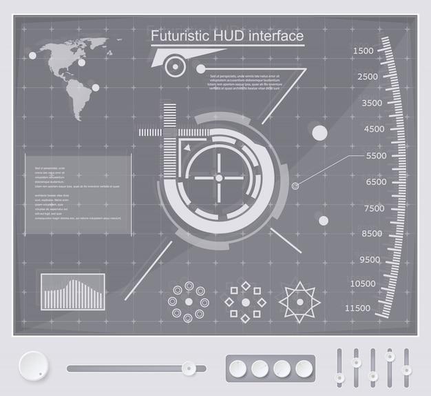 未来的なテクノロジーインターフェースhud