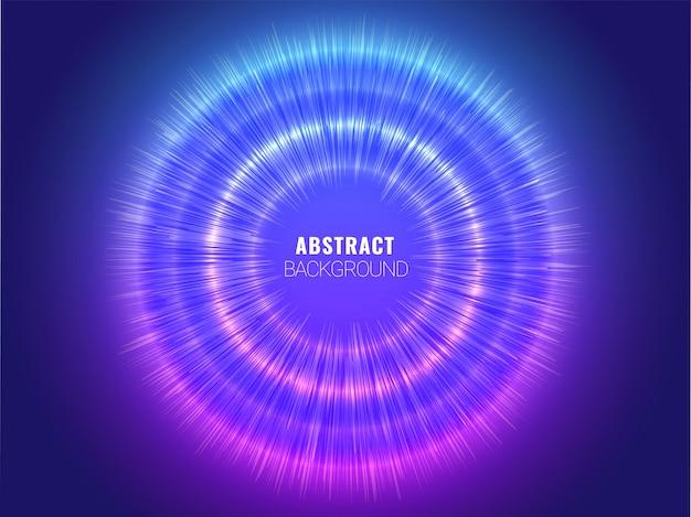 青い抽象hudと回路未来的なデジタル技術の背景