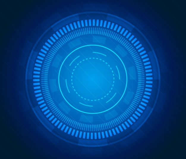 Футуристический научно-фантастический пользовательский интерфейс. синие элементы интерфейса hud.
