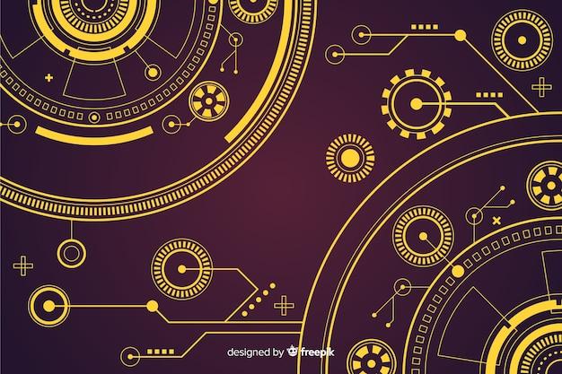 Абстрактный дизайн фона технологии hud