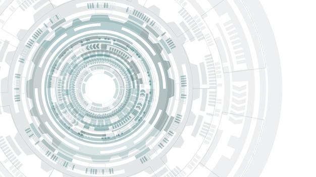 Hud抽象円構造未来的なユーザーインターフェース。科学の背景ハイテクの抽象的な背景。未来的な技術コンセプト。