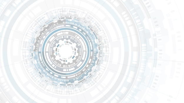 Hud抽象円構造未来的なユーザーインターフェース