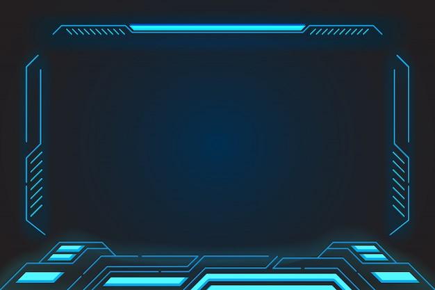 Виртуальная реальность отображает абстрактные технологии будущего интерфейса hud для киберспорта и технологического бизнеса.