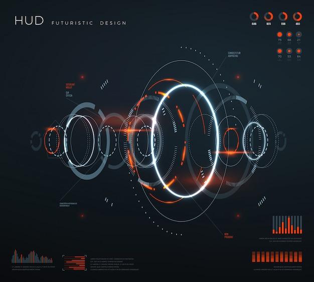 Футуристический виртуальный интерфейс hud.