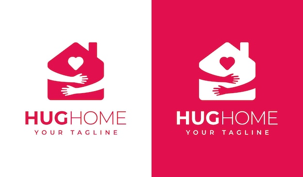 Hug home logo creative design
