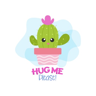 Hug me please! with cactus