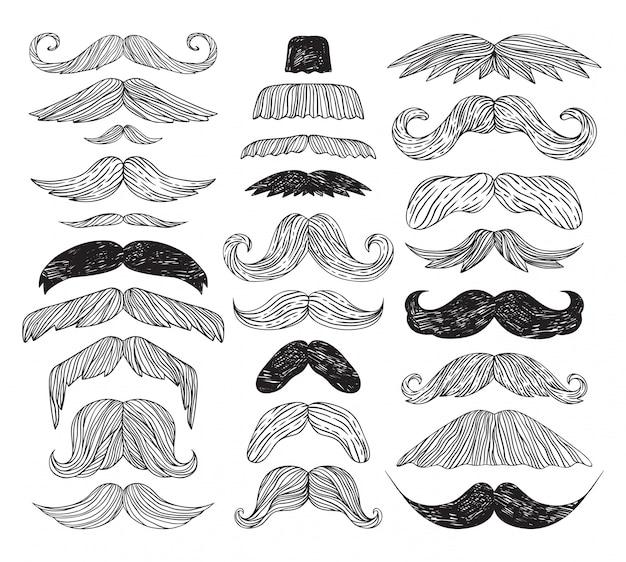 Huge set of mustache.