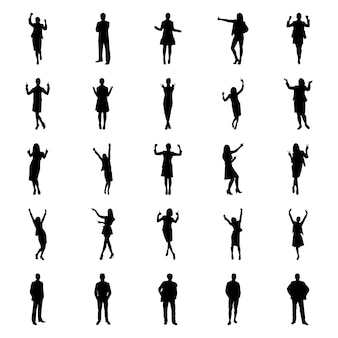 Human avatars pictogram pack