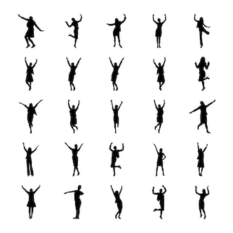 Human avatars pictogram set