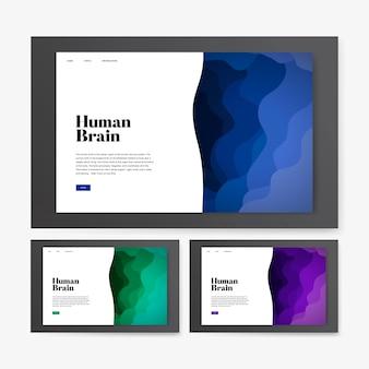 Human brain informational website graphic