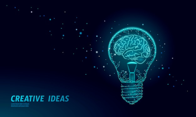 Человеческий мозг iq умный бизнес концепции.