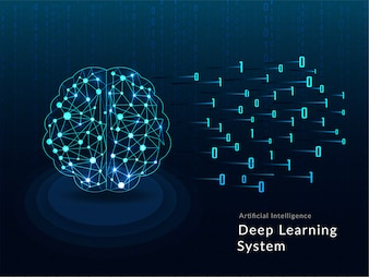 Human brain made by mesh digital network on matrix.